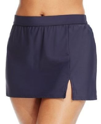 Primary image for NEW INC International Concepts Solid NVY Navy Slit Swim Skirt Bottom 20W #470426