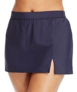 NEW INC International Concepts Solid NVY Navy Slit Swim Skirt Bottom 20W... - $24.74
