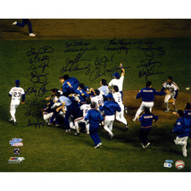 1986 Mets Multi Signed Team Celebration 16x20 Photo w/ Gary Carter (19 S... - $669.95