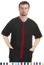 Men Women Scrubs - Short Sleeve Warm-Up Scrub Jacket Medium Yellow - New... - $8.99