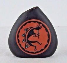 Signed Acoma Pottery Vase M Ascencio Kokopelli Lizard New Mexico Small  - $49.49