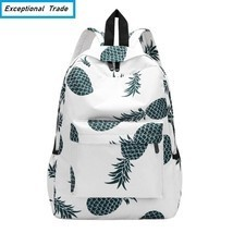 Teenager Backpack Pineapple Printing School Bag For Girls Casual Travel ... - $393,26 MXN