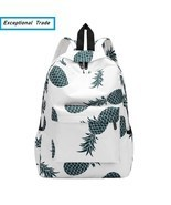 Teenager Backpack Pineapple Printing School Bag For Girls Casual Travel ... - £16.62 GBP