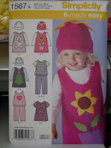 Toddler Sewing Pattern for Stretch Knits only sizes 1/2 - 4 (USED) Complete - $5.00