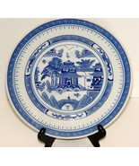 Made for Export Blue Transfer Round Chinese Plate  - $3.49