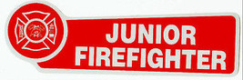 Junior Firefighter Highly Reflective Fire Department Decal With Maltese Cross - $1.98