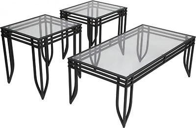 Ashley Exeter 3 Piece Occasional Table Set Signature Design Contemporary Style