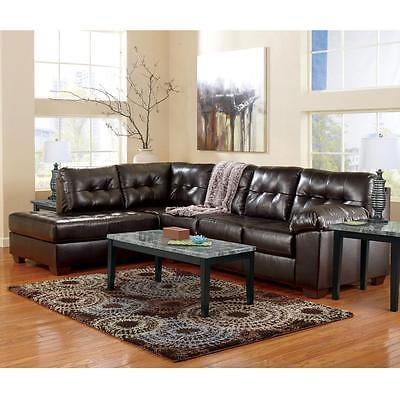 Ashley Alliston DuraBlend Sectional 2pc. Chocolate Contemporary Left Hand Facing