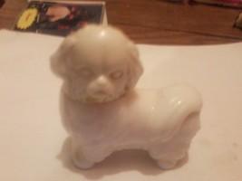VINTAGE AVON WHITE DOG PERFUME BOTTLE WITH LITT... - $12.50
