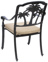 Palm Tree Stylish Outdoor Dining Set Cast Aluminum 7pc Garden Patio Furniture image 4