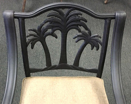Palm Tree Stylish Outdoor Dining Set Cast Aluminum 7pc Garden Patio Furniture image 6