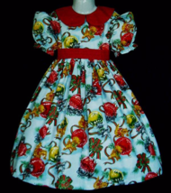 NEW Handmade Kittens W/Ornaments Christmas Deluxe Dress Custom Sz 12M-14Yrs - $79.98