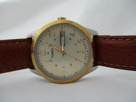 Timex Men's Genuine Leather Watch Date Indicator Water Resistant 30M - $68.00