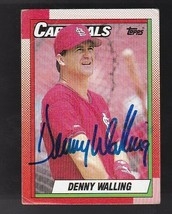 DENNY WALLING AUTOGRAPHED CARD 1990 TOPPS ST LOUIS CARDINALS - $3.58