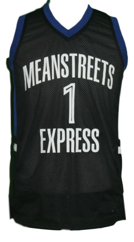 Derrick rose  1 mean streets express basketball jersey black   1