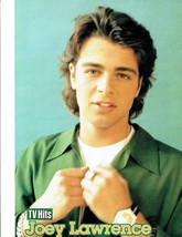 Joey Lawrence teen magazine pinup clipping Bop Tiger Beat Teen Beat Tv Hits