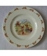 "Royal Doulton Bunnykins 8"" Salad Plate Albion Shape See Saw EC - $24.99"