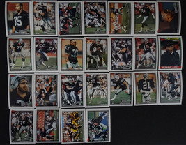 1991 Topps Los Angeles Raiders Team Set of 25 Football Cards Missing 2 Cards - $4.50