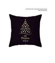 Cotton Linen Merry Christmas Cover Cushion Christmas Decor for Home - St... - $12.99