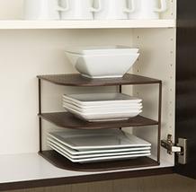 3-Tier Corner Shelf Counter & Cabinet Organizer... - $37.77