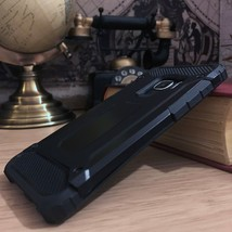 High Density Rugged Bumper  TPU Airflow™ Cover Black Samsung Galaxy S9 - $19.47