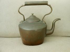 Victorian Dovetail Copper Water Kettle w/Gooseneck Spout 1800's Handmade - $54.00