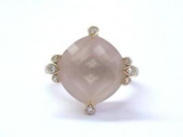 Cartier Inde Mysterieuse Pink Quarz & Diamantring - $5,145.40