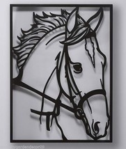 "29"" Black Horse Laser Cut Metal Wall Decor 21.5"" x 29"""