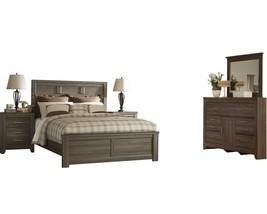 Ashley Juararo 5PC E King Panel Bedroom Set - Brown - $2,000.19