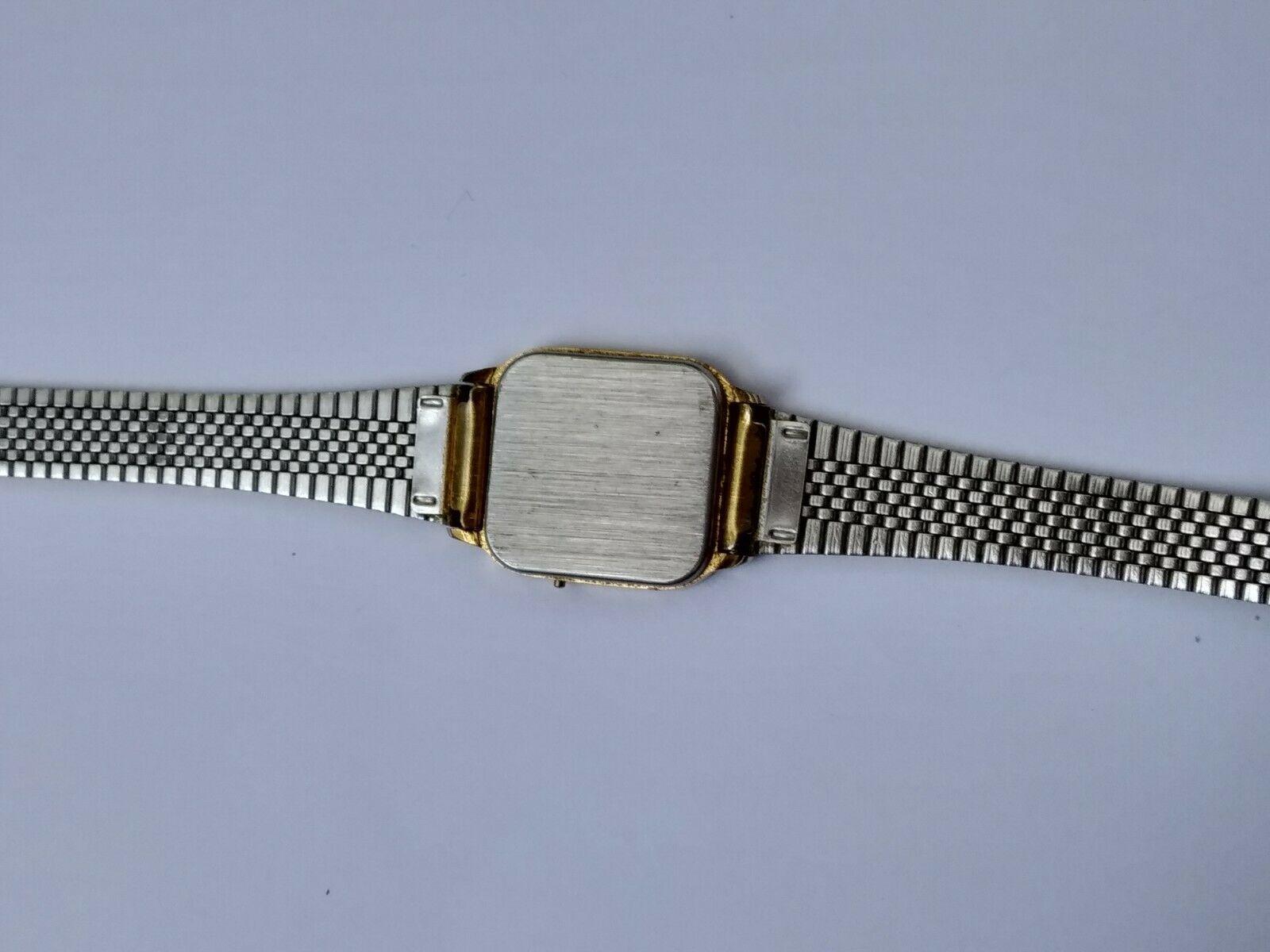 Jordache vintage digital gold tone small size quartz women's watch