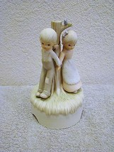 Lefton Ceramic Children Holding Hands Music Box 1982 #03490, Plays Close to You - $15.99