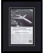 1967 BOAC British Overseas Airways Framed 11x14 ORIGINAL Vintage Adverti... - $41.71