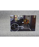Photo Notecard Vintage bicycle with fall wreath 4x6 Blank Notecards  - $4.25