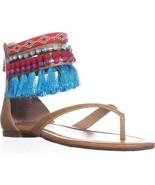 Jessica Simpson Raquelle Ankle Strap Flats Sandals, Buff, 8.5 US / 38.5 EU - $37.43