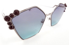 FENDI Women's Sunglasses FF0261/S Ruthenium 57-18-145 MADE IN ITALY - New! - $199.95