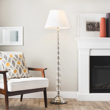 Premium Endless Crystal Sphere White Shade Soft-Glow Lighting Floor Lamp... - $217.79