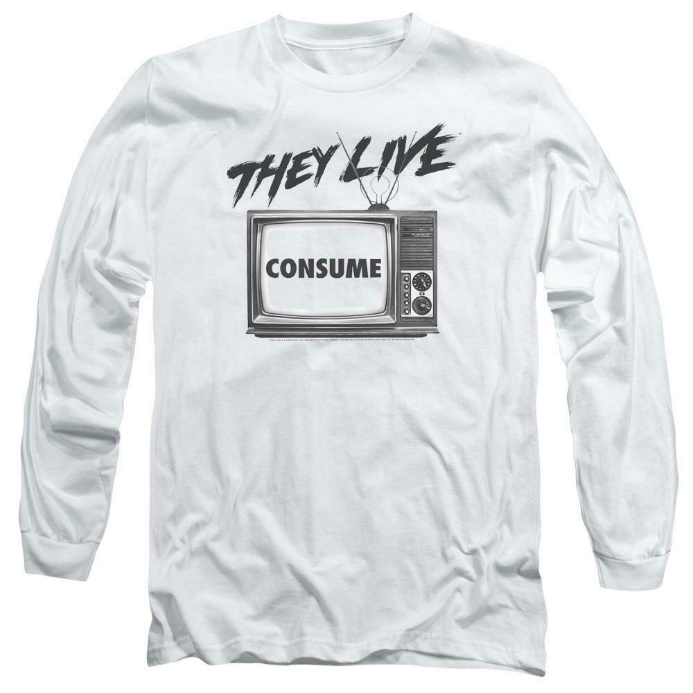 They Live T-shirt retro 1980's horror movie long sleeve graphic tee UNI609