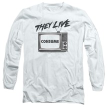 They Live T-shirt retro 1980's horror movie long sleeve graphic tee UNI609 image 1