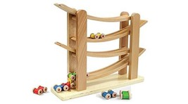 Todo Libro Toys Wooden Wood Car Vehicle Race Track Roller Coaster Racer Play Set