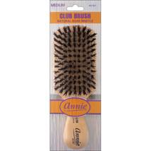 Annie Medium Wave Club Brush Light Brown 50% Nylon and 50% Black Bristle #2161 - $5.45