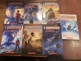 Lot of 7 I SURVIVED Series Books Lauren Tarshis HURRICANE Gettysburg Tit... - $24.74