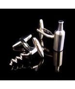 Vintage Bottle cufflinks - Corkscrew set - Wedding jewelry - celebration... - $125.00