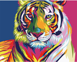 Oil painting by numbers snow tiger wall decor picture on canvas oil paint coloring thumb155 crop