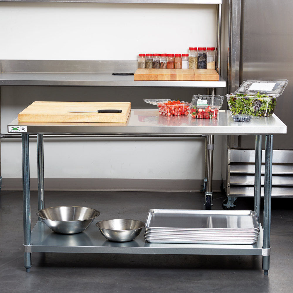 """30"""" x 60"""" Stainless Steel Work Prep Table Commercial ..."""