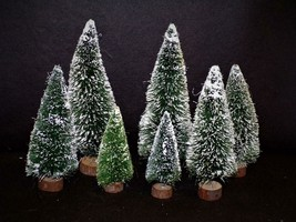 "Dept 56- 7- Woodbase TREES- 5"" To 9 1/2"" - $12.25"