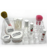 Clear Acrylic 16 Compartment Lipstick Brush Cosmetic Makeup Holder Organ... - €9,50 EUR