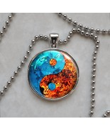 Fire Water Yin Yang Taoism Confucianism Pendant Necklace - $14.85+