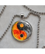 Yin Yang Sun Moon Night Day Taoism Confucianism Pendant Necklace - $14.85+