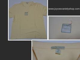 Ladies Organic Cotton Polo Shirt Pale Yellow NWT SZ 2XL - $10.99