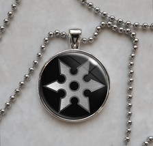 Ninja Shuriken Throwing Star Pendant Necklace - $14.00+